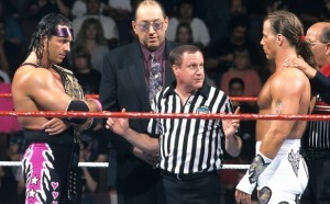 bret hart vs Shawn Michaels
