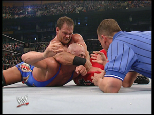kurt angle vs chris benoit