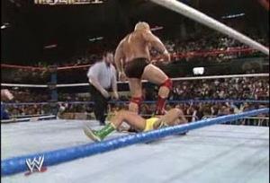 WWE_WWF_Wrestlemania-V_Dino-Bravo_vs_Ronnie-Gravin