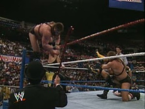 WWE_WWF_Wrestlemania-VII_Demolition_vs_Tenryu_Kitao_Failed-Demolition-Decapitation
