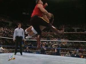 WWE_WWF_Wrestlemania-VII_the-Mountie_vs_Tito-Santana_crash