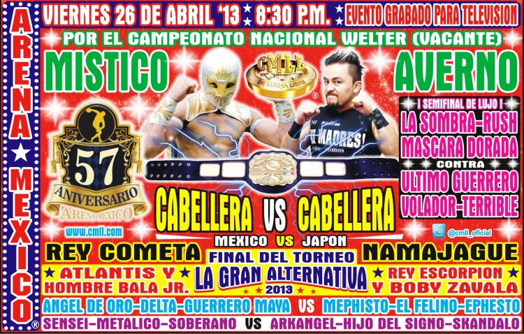 cartelera cmll 26 d abril