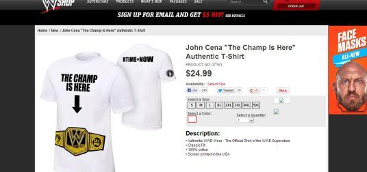 thechampsihere camiseta John Cena