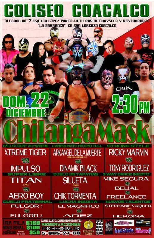 chilanka mask 22 diciembre
