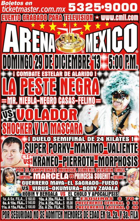 cmll arena mexico 27 diciembre