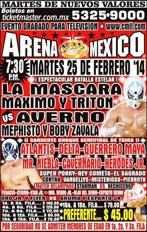 cmll arena mexico 25 febrero