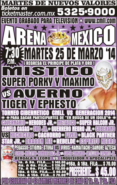 cmll 25 marzo arena mexico