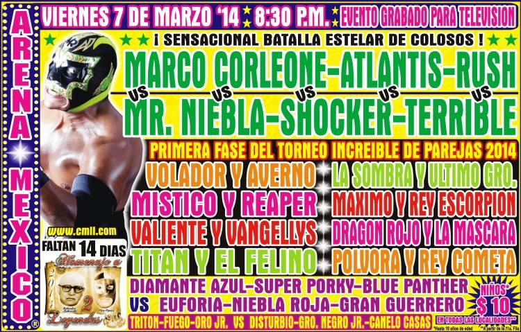 cmll arena mexico 7 de marzo