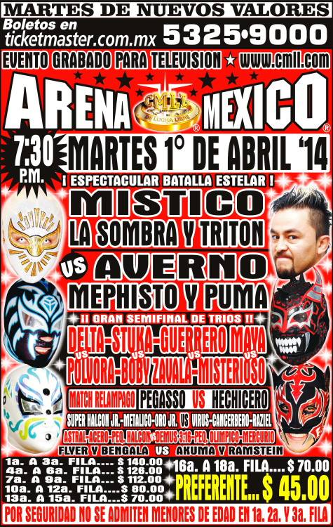 cmll 1 abril arena mexico