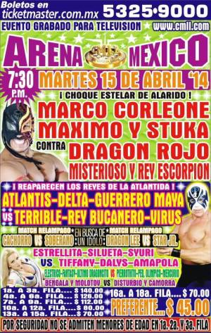 cmll 15 abril arena mexico