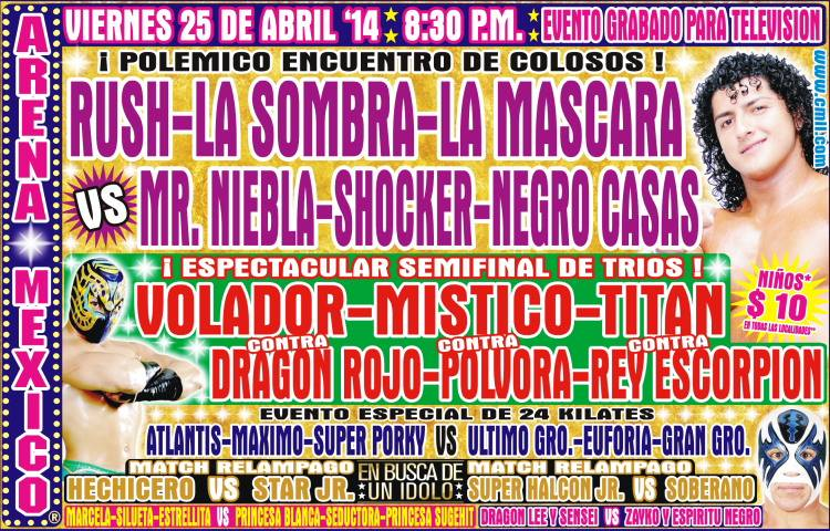 cmll 25 abril arena mexico