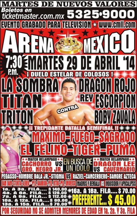 cmll 29 abril arena mexico