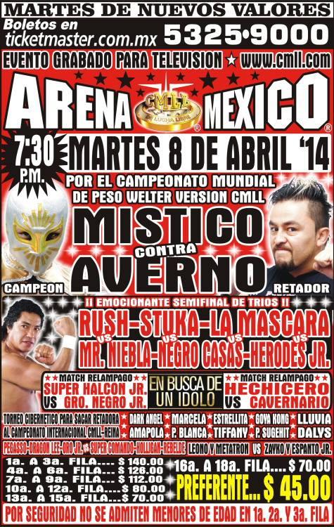 cmll 8 abril arena mexico