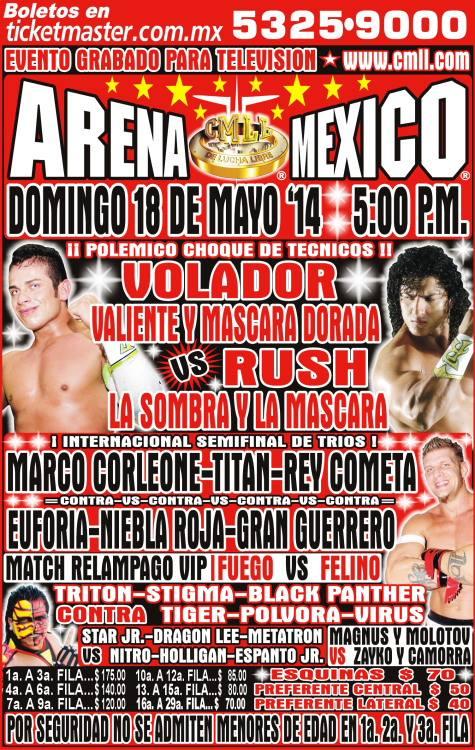 cmll 18 mayo arena mexico