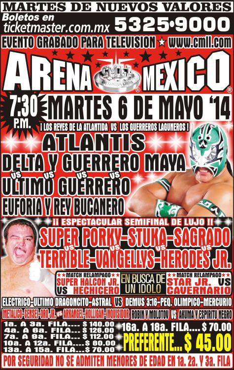 cmll arena mexico 6 mayo