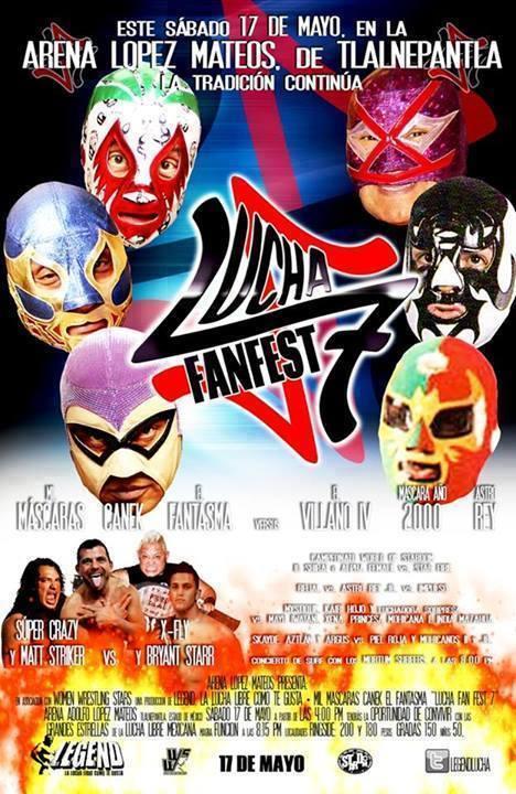 lucha fan fest 7 poster