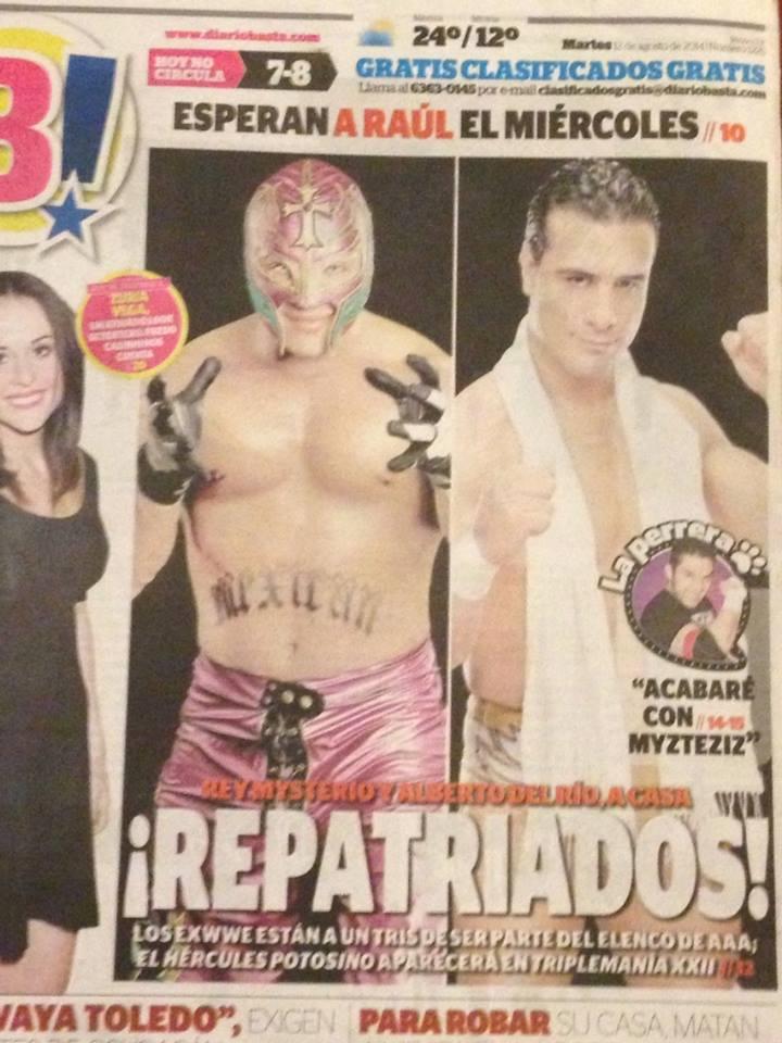 Diario méxicano Rey Mysterio y Alberto del Río