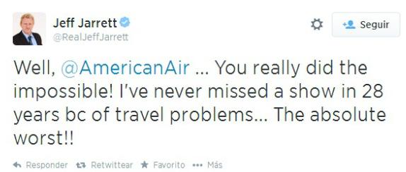 Jeff Jarret pierde el avión