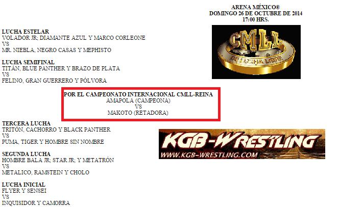 CMLL 26 de Octubre