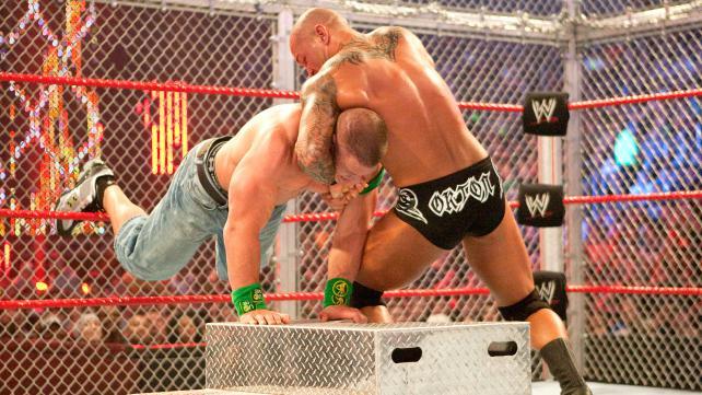 Hell In A Cell 2009 John Cena vs Randy Orton