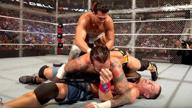 Hell In A Cell 2011 Alberto Del Río vs John Cena vs CM Punk