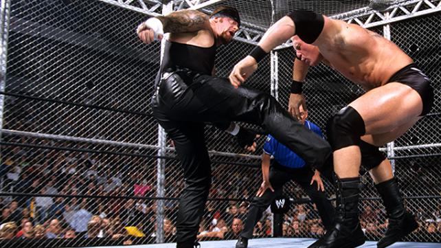 No mercy 2002 Undertaker vs Brock Lesnar Hell In A Cell