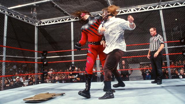 Raw Kane vs Mankind Hell In A Cell 1998 2