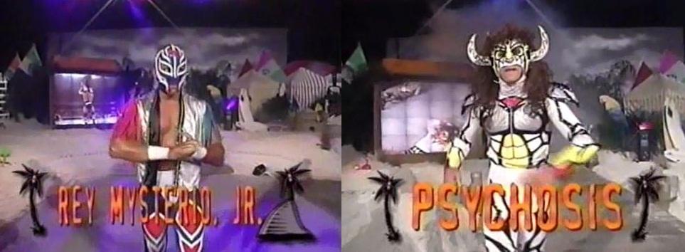 Rey Mysterio Jr vs PsychosisRey Mysterio Jr vs Psychosis