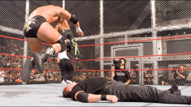 Unforgiven 2006 Degeneration X vs Vince McMahon Shane McMahon & The Big Show Hell In A Cell
