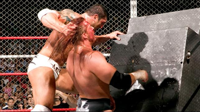 Vengeance 2005 Batista vs Triple H Hell In A Cell