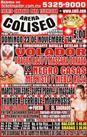 CMLL 23 noviembre