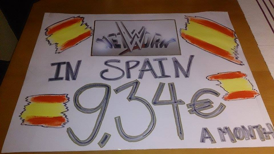 Pancartas WWE Madrid 2014