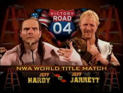 NWA-TNA Championship Ladder Match Jeff Jarret vs Jeff Hardy