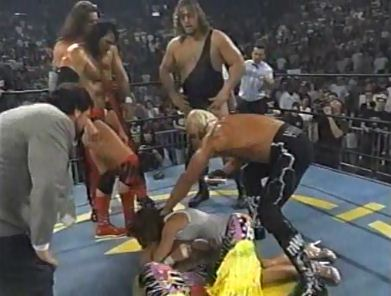 nWo Attacks Elizabeth & Randy Savage
