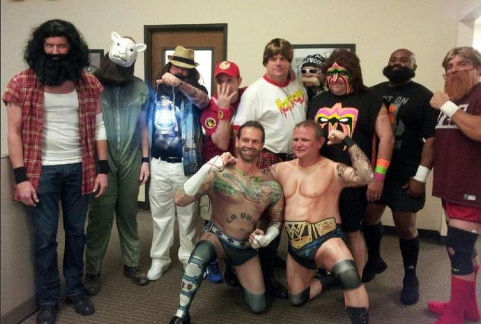 WWE Halloween fans