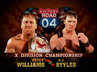 X Division Championship Match Petey Williams vs AJ Styles