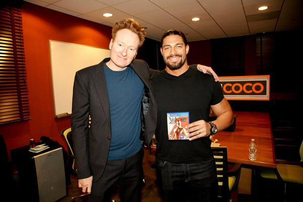 roman reigns y Conan O'Brien