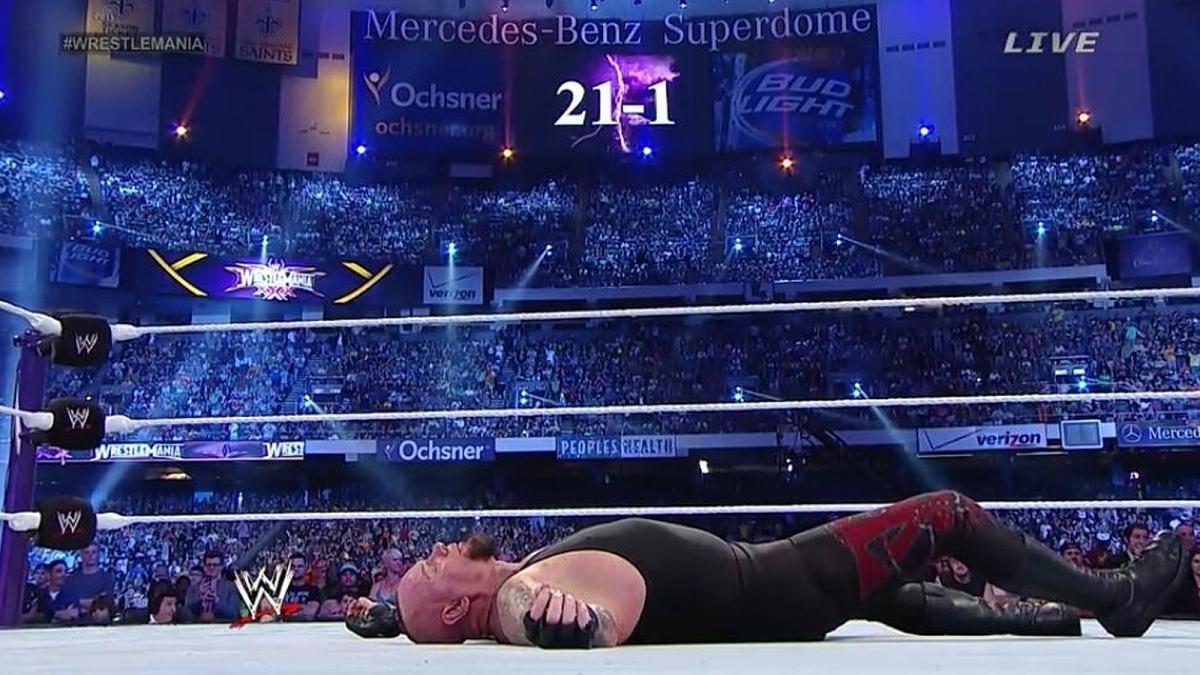 Fin de la racha de The Undertaker en Wrestlemania XXX