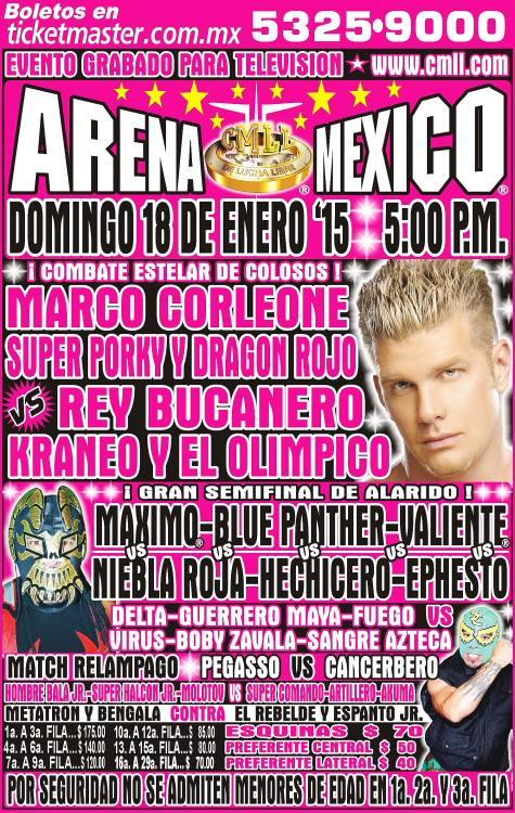 cmll 18 enero arena mexico