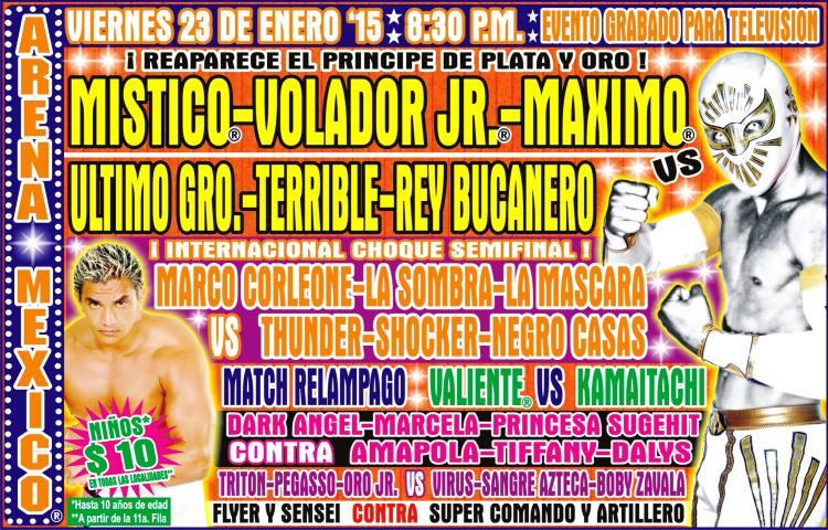 cmll 23 enero arena mexico
