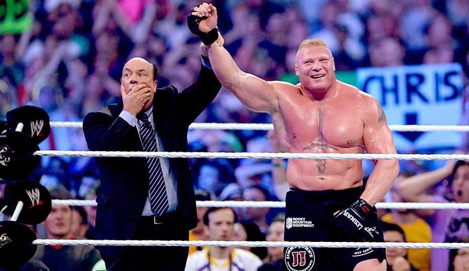 Paul Heyman Beats Brock Lesnar Wrestlemania XXX