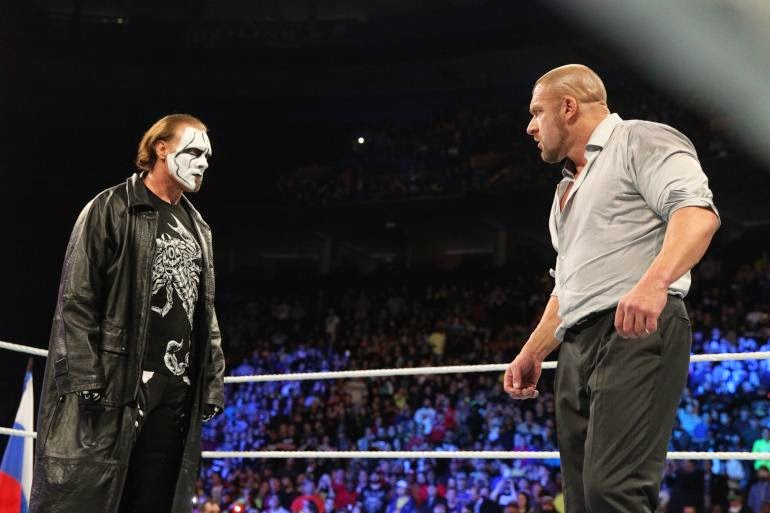Sting debuta en wwe survivor series 2014  atacando a triple h