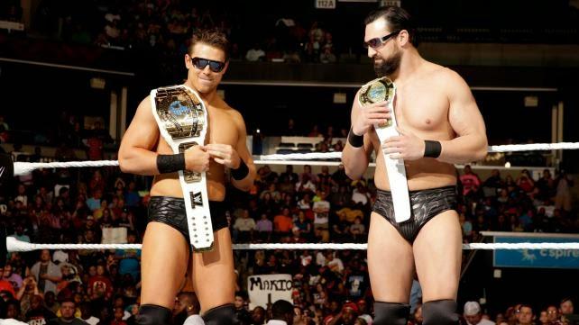 the miz y damien mizdow wwe tag team champions 2014