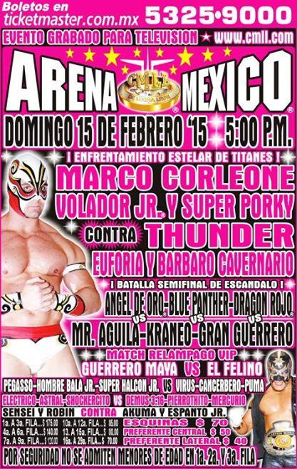 cmll 15 febrero arena mexico