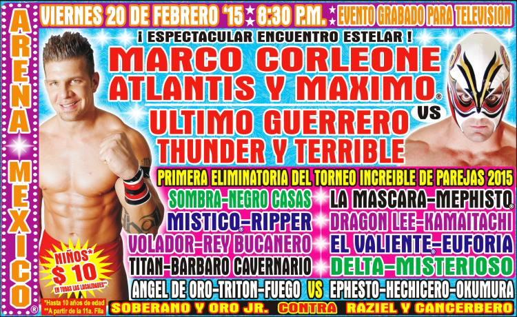 CMLL 20 FEBRERO ARENA MÉXICO